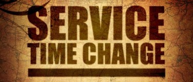 Changes to Service Times